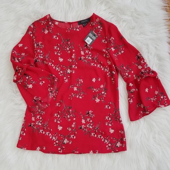 95082e2362a4e5 Primark Tops | Bell Sleeve Floral Blouse | Poshmark